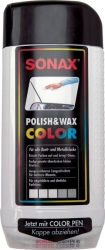 Autovosk - Barevná leštěnka - bílá - SONAX Polish & Wax COLO