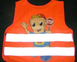 Reflexní vesta - dětská oranžová