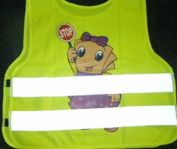 Reflexní vesta - dětská žlutá